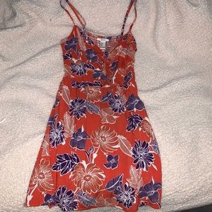 Forever 21 Orange and Purple Floral Dress